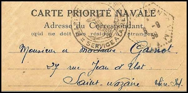 Histoire postale de la drôle de Guerre 1939/40