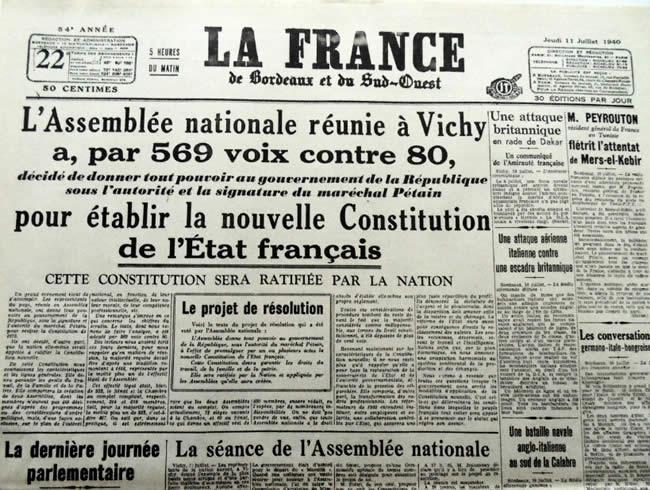 """Résultat de recherche d'images pour """"projet de constitution de Pétain (images)"""""""
