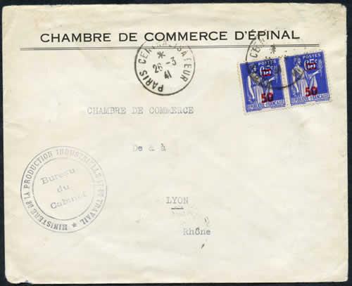 Histoire postale du courrier interzones 1940 1944 for Chambre de commerce de lyon