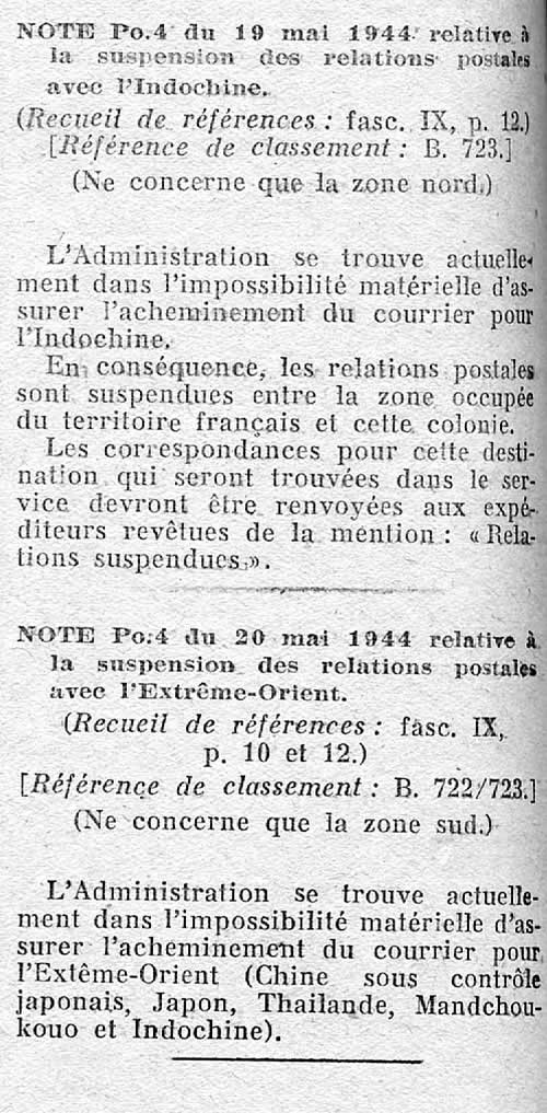 Histoire Postale De L Indochine Sous Tutelle Japonaise 1944 1945