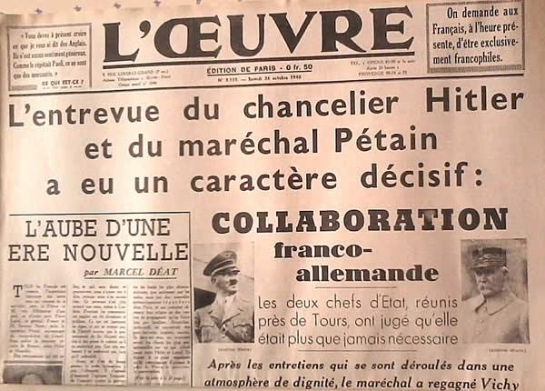 Automne 1940 : Histoire postale de l'État Français pétainiste et de  l'Occupation