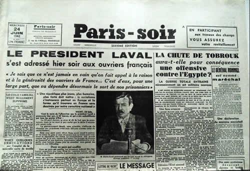 Paris Soir publié en zone non-occupée