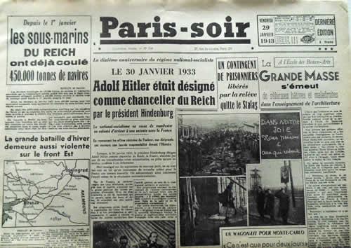 Paris Soir publié à Paris
