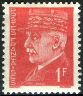 pétain 1F rouge original