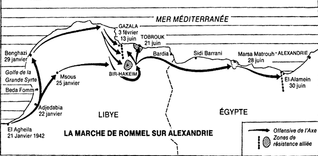 Carte situation El Alamein
