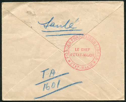 Cachet Etat-Major de la France Libre