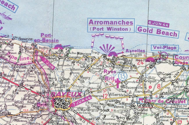 Carte de Gold beach