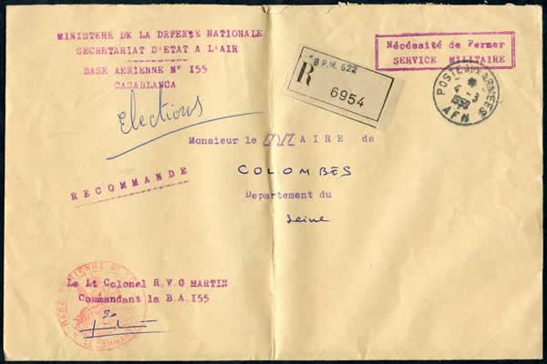 Municipales 1959 courrier électoral