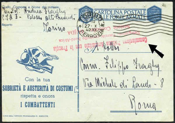 Carte FM avec griffe commission armistice