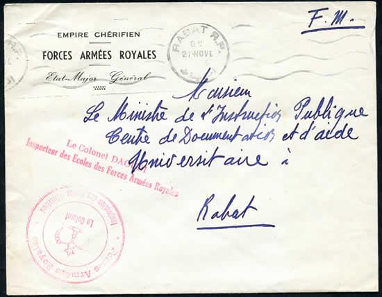 Lettres des Forces Armées Royales 1956
