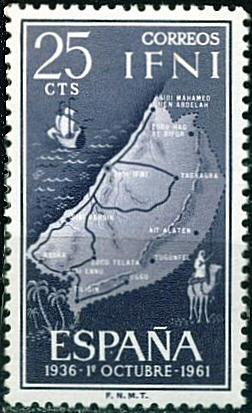 Carte de l'Ifni en 1961