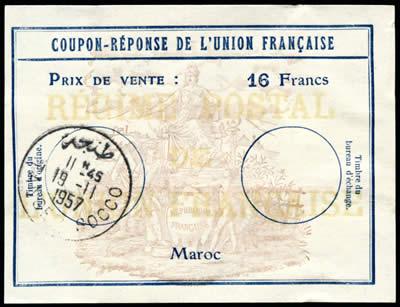 CRUF Maroc 16 F 1957