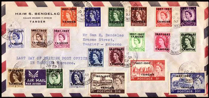 Tanger dernier jour des postes britanniques