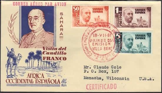 Visite Général Franco au Sahara espagnol