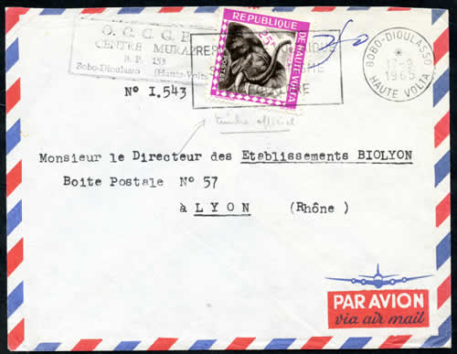 Courrier officiel 1965