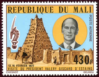 Visite Pdt Giscard d'Estaing au Mali
