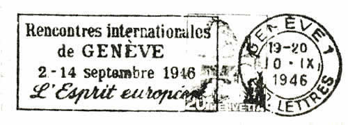 Rencontres internationales geneve 1946