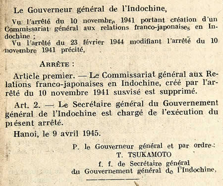 Suppression Commissariat franco-japonais