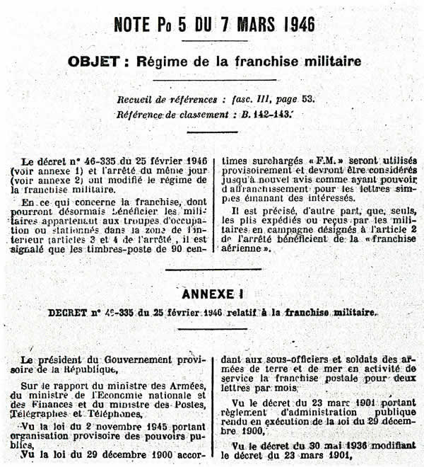 Note du 7/3/46 page 1