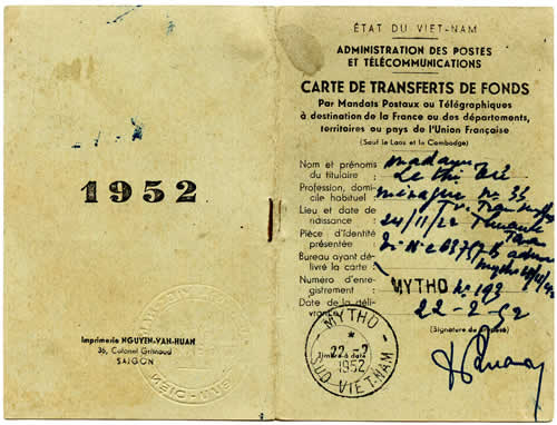 Carte transfert de fonds