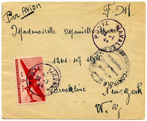 Courrier marraine de guerre 29 1 44