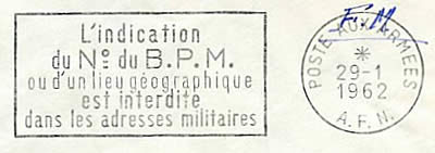 flamme L'indication du N° d'un BPM